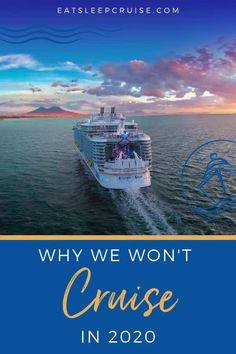 If you're dreaming of a cruise vacation, you'll have to keep dreaming a little longer anyway. Here we share 6 reasons cruising in the US will not resume this year. However, that doesn't mean you can't start planning for a cruise next year. All of the cruise lines (Royal Caribbean, Disney, etc.) are updating their plans and protocols to prepare to sail again in 2021. Check out this post and follow us for the latest cruise updates. #Cruise #CruiseVacation #Cruising #CruiseTips #CruiseShips