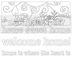 """Home Again"" digi stamp by Diana Garrison on squigglefly.com"