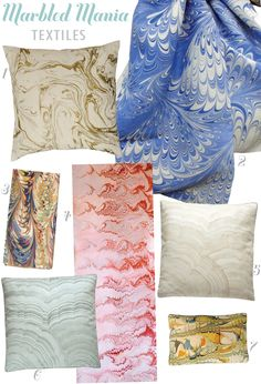 Marbled Paper and Fabrics | Kyle Knight Design