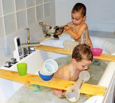 Fantástico juego en la bañera. IMPRESCINDIBLE.