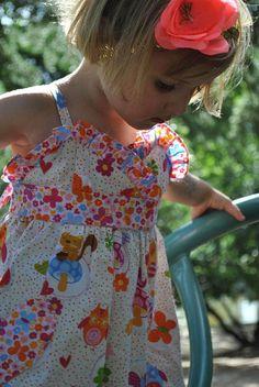 Girls SUNDRESS pdf dress sewing pattern sizes 1 to 10 years