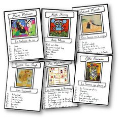 alot of great ideas for French class.check out rally de lecture Art Montessori, Visual And Performing Arts, Ecole Art, Art Programs, Learn French, French Art, Teaching Art, Oeuvre D'art, Oeuvres