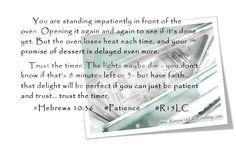 Romans 15 Life Coaching: A Week of Patience - Hebrews 10:36