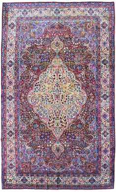 Other Antique Formal Rugs Gallery: Antique Lavar Kerman Rug, Hand-knotted in Persia; size: 9 feet 8 inch(es) x 16 feet 9 inch(es)