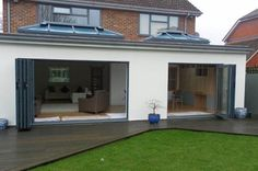 Call Radcliffe Glass & Windows on 0161 724 8501 for the design and build of home extensions like uPVC porches. We cater to clients in Greater Manchester, Lancashire and Cheshire House Styles, Flat Roof Extension, Kitchen Diner Extension, Garden Room Extensions, Rendered Houses, Bungalow Extensions, House, New Homes, House Exterior