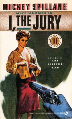 Today is Mickey Spillane's birthday. Let's celebrate by reading one of his famous Mike Hammer detective novels. Pulp Fiction Book, Crime Fiction, Fiction Novels, Vintage Comics, Vintage Books, Roman, Mystery Genre, True Detective, Detective Series