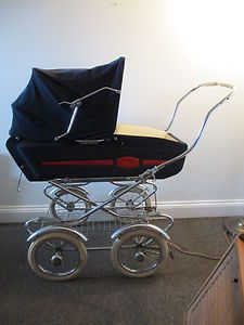 Vintage Pram Stroller Baby Buggy 1950's Toddler Doll Carriage ...