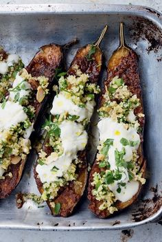 eggplant with bulgur and yogurt