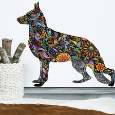 German Shepherd Dog Decal Wall Sticker