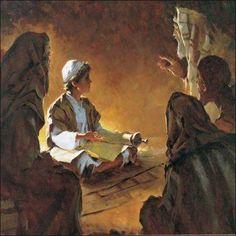 """JESUS AT THE TEMPLE"" POR BRIAN JEKEL."