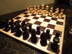 Hey, I found this really awesome Etsy listing at https://www.etsy.com/listing/192162361/handmade-chess-board-and-complete-chess