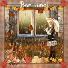 Lundi, manga, automne, pluie, animé, feuilles tuto: http://www.abcpsp.com/tutoriels5/automne/automne.html