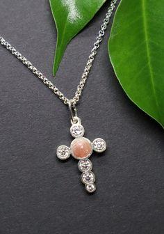 Gold, Pendant Necklace, Jewelry, Fashion, Dirndl, Rhinestones, Crosses, Silver, Moda