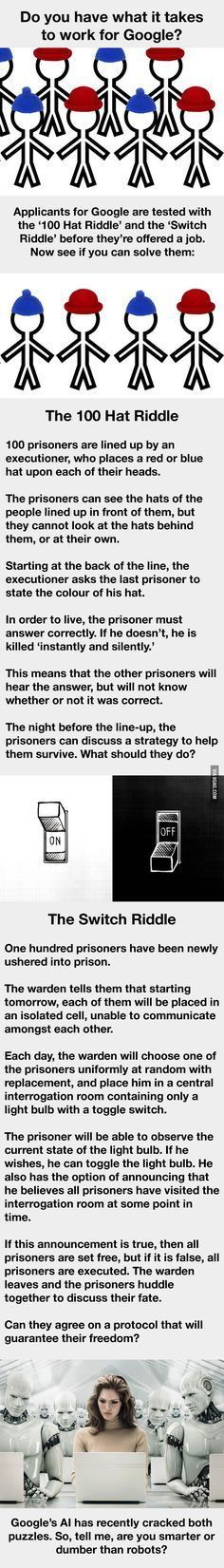 Google used these 2 riddles to spot the super smart in interviews. Can you solve them? - 9GAG