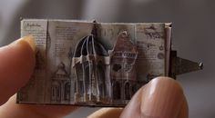 Leonardo da Vinci miniature pop-up book by Chapurreao ( Sara Álvarez ) #handmade_books #miniature