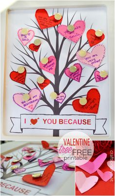DIY Valentine conversation hearts | A valentines day gift idea. Create a tree of hearts with personalized messages for valentines day gift for him or for her at craftionary.net