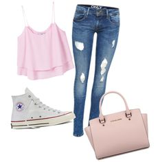 Untitled #50 by hasicelma on Polyvore featuring MANGO, Converse and Michael Kors