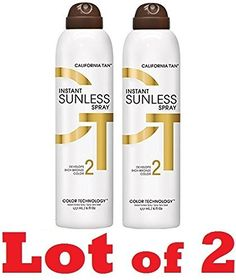 2 BOTTLES OF California Tan Instant Sunless Spray - Dark Bronzing Spray *** See this great product.