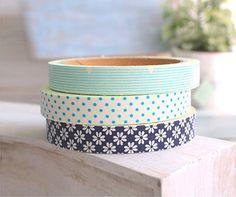 Cotton Spring Blue Decor Tape 3 Set dot stripe by WonderlandRoom, $16.50
