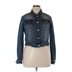 Pre-owned Maurices Denim Jacket Size 14: Blue Women's Jackets &... (37 BGN) ❤ liked on Polyvore featuring outerwear, jackets, blue, maurices, denim jacket, blue denim jacket, blue jackets and blue jean jacket