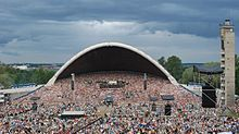 A moment before the opening of the 25th Estonian Song Festival (2009) at the Tallinn Song Festival Grounds