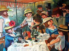 Le déjeuner des canotiers (de Renoir) revu par Pierre Adrien-Sollier