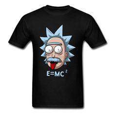 Rick e Morty Prémio Camiseta XXXL Engraçado Personalizado Camisetas de Manga Curta Amor Da Ciência Física E MC2 Einstein Camisa do Desenhista em Camisetas de Dos homens de Roupas & Acessórios no AliExpress.com | Alibaba Group