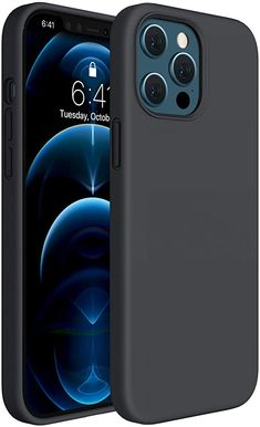 Amazon.com: Miracase Compatible with iPhone 12 Pro Max Case 6.7 inch(2020 Release),Liquid Silicone Case Gel Rubber Full Body Protection Shockproof Drop Protection Case(Black) Full Body, Smartphone, Iphone Cases, Silicone Rubber, Amazon, 18th, Jr, Marble, Navy Blue