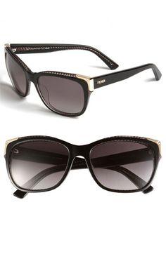 Fendi Gold Tipped Sunglasses via Nordstrom - $332