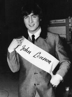 1964 - John Lennon in A Hard Day's Night film (backstage photo).