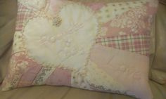 Quilted paper pieced cushion