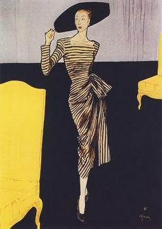 Fashion Illustration by René Gruau (1909 - 2004) http://bertc.com/subfive/i52/gruau13.htm