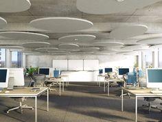 Acoustic ceiling clouds ROCKFON Eclipse® - ROCKFON - ROCKWOOL ITALIA