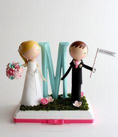 Cute Custom Wedding Cake Topper