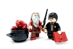 Minifigure Accessory - Spellbook Fig Recipes, Bound Book, Everything Is Awesome, Custom Lego, The Magicians, Dark Red, A Team