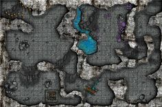 Wailing caverns battlemaps based off of the wow dungeon for darkbelow caverns grid smallg publicscrutiny Image collections