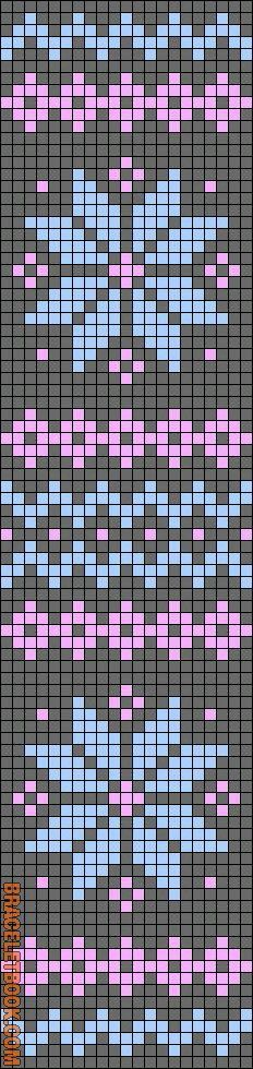 Nordic / Fair Isle / Cross stitch / this could also be a bead loom pattern