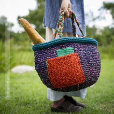 Chunky Crochet, Love Crochet, Knit Crochet, Crochet Handbags, Crochet Purses, Mode Jeans, Quick Knits, Art Bag, Quilt Festival