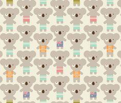 koala-lala fabric by amel24 on Spoonflower - custom fabric