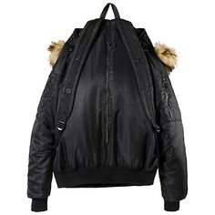 b8892cbf3 Bomber-Jacket Backpack ( 155) ❤ liked on Polyvore featuring bags