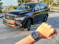 Car & Watch Review: Infiniti QX80 Limited SUV & Grand Seiko Spring Drive GMT SBGE001 - by Ariel Adams - See how this Seiko GMT pairs with the QX80 now at aBlogtoWatch.com
