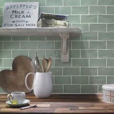 Buy Rustico Cedar Wall Tile tiles from Tons of Tiles with Next Day UK Delivery, Samples Available from only inc P&P. Kitchen Wall Tiles, Ceramic Wall Tiles, Kitchen Layout, Kitchen Colors, New Kitchen, Kitchen Decor, Kitchen Design, Sage Kitchen, Colourful Kitchen Tiles