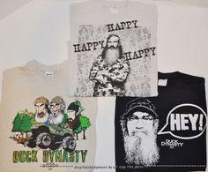 "Duck Dynasty Cartoon Phil /""Happy Happy Happy/""  Girl/'s Blue T Shirt XS//S//M//L//XL"