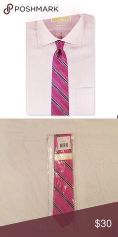 HP 12/30 🎉🎉Men's Michael Kors Pink Chevron tie🎉 New with tags! Great accent tie. Michael Kors Accessories Ties