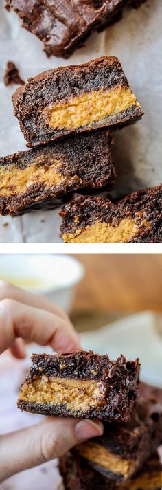 Reese's Stuffed Brown Butter Brownies from The Food Charlatan // So fudgy, so rich, so stuffed with Reese's.