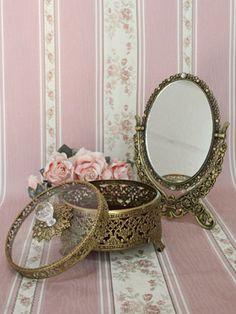 Metallic Jewelry Box by Victorian Maiden
