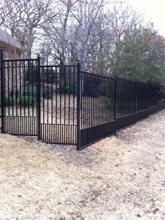 wrought iron fence ideas of wrought iron fences and. Black Bedroom Furniture Sets. Home Design Ideas