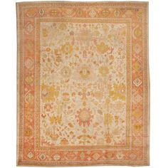 View this beautiful Antique Oushak Turkish Rug 44492 from Nazmiyal's fine antique rugs and decorative carpet collection. Rugs On Carpet, Carpets, Color Effect, Detailed Image, Delicate, Antiques, Turkish Rugs, 19th Century, Turkey