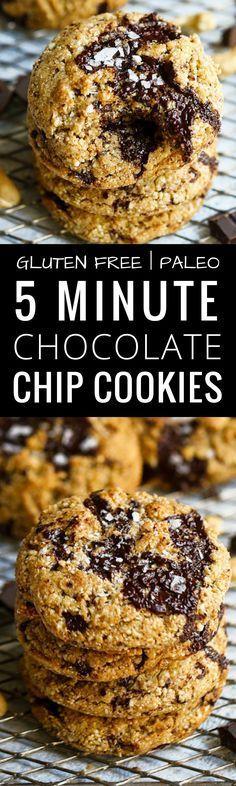 5 Minute Paleo Chocolate Chip Cookies. Paleo Choco…