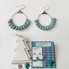 #pendientesganchillo #bisuteriaganchillo #crochetedearring #crochetjewelry